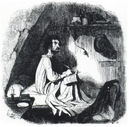 daumier-poete-dans-la-mansarde
